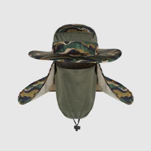 그늘막모자 모자 햇빛가리개 넥커버 마스크 매쉬 정글모자(카모그린)