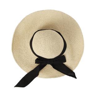 내담쇼핑몰 모자 리본 비치 바캉스 모자 여성 여름모자(베이지)