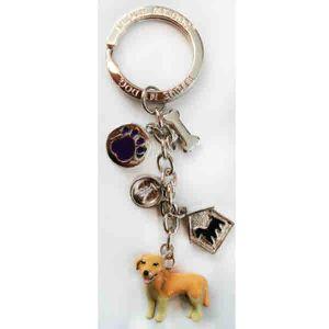 (퍼셀) 열쇠고리-골든리트리버 강아지 인식표