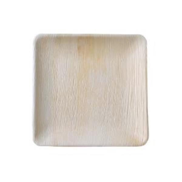 본플라 천연야자나무 25cm 일회용 정사각형 접시 (4)