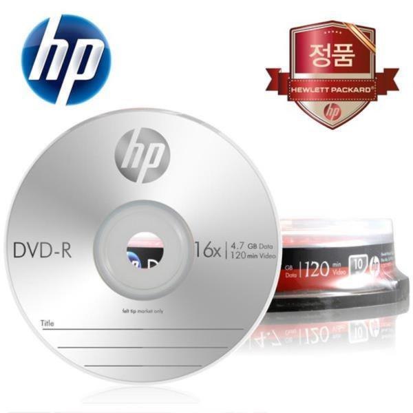 HP Media DVD-R 16x 4.7GB (10p 케익 케이스)