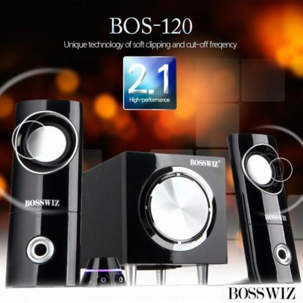 BOSSWIZ 스피커 (2.1채널) (유선리모컨내장)