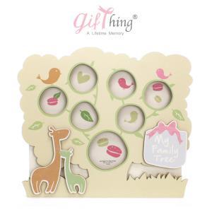 Gifthing 행복해지는 아기 돌잔치 액자 (기린)