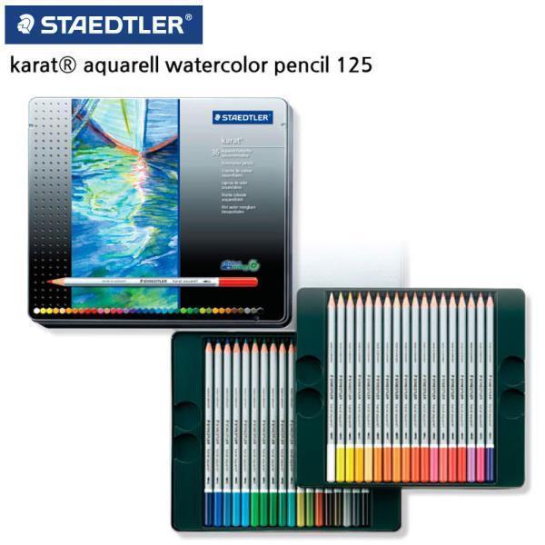 125 카라트 수채 색연필 36색 세트