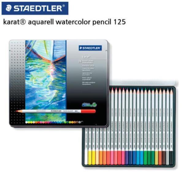 125 카라트 수채 색연필 24색 세트