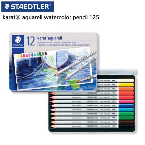 125 카라트 수채 색연필 12색 세트