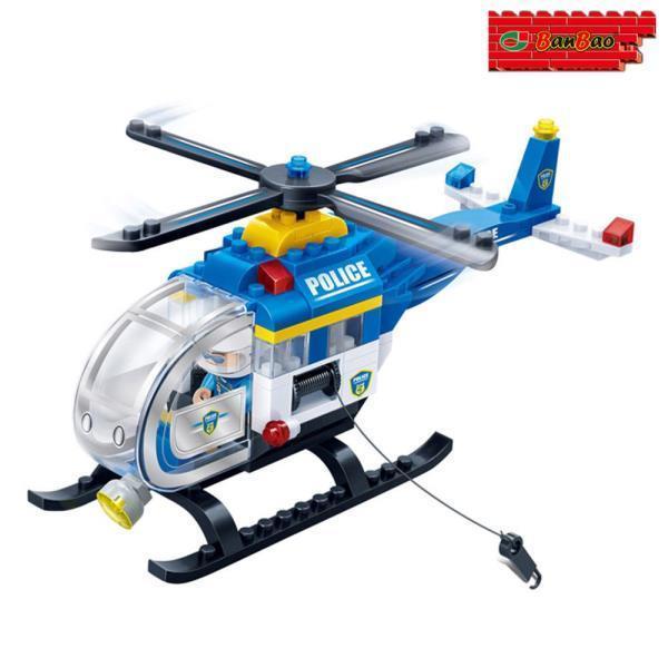 (블록) 경찰 헬리콥터 (BO7008)