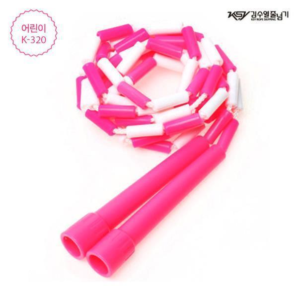 김수열 어린이 색동줄넘기 (K-320)(핑크)