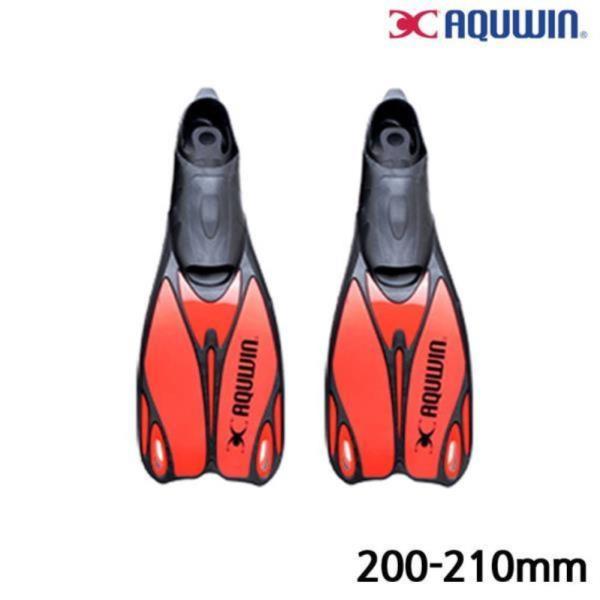 수영 오리발 롱핀 (30.32) (Red)