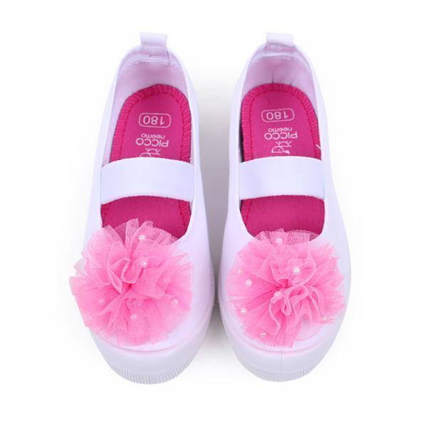 피코니 진주코사지 면실내화 (핑크)