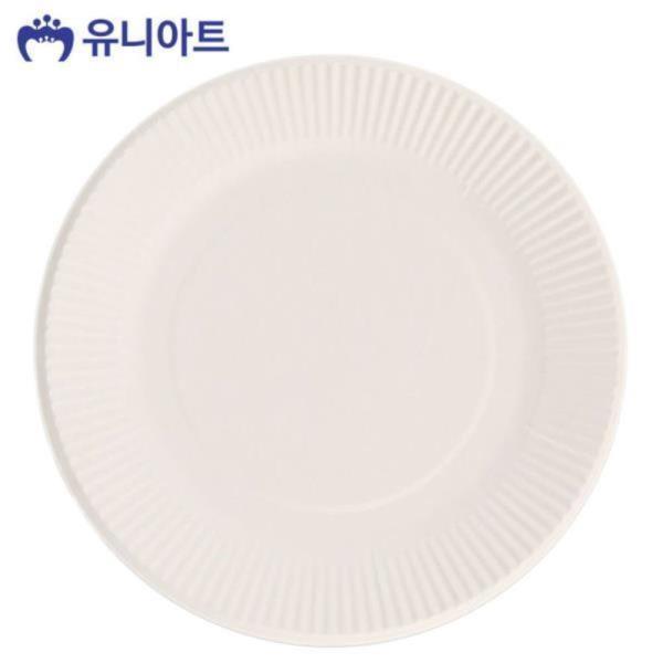 2000 칼라 종이접시 (10개입) (흰색)