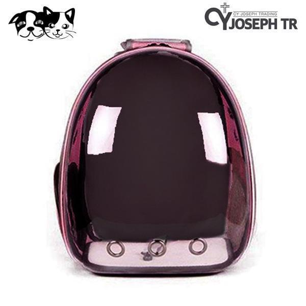 투명 우주선 가방 (핑크)(애완용 캐리어)