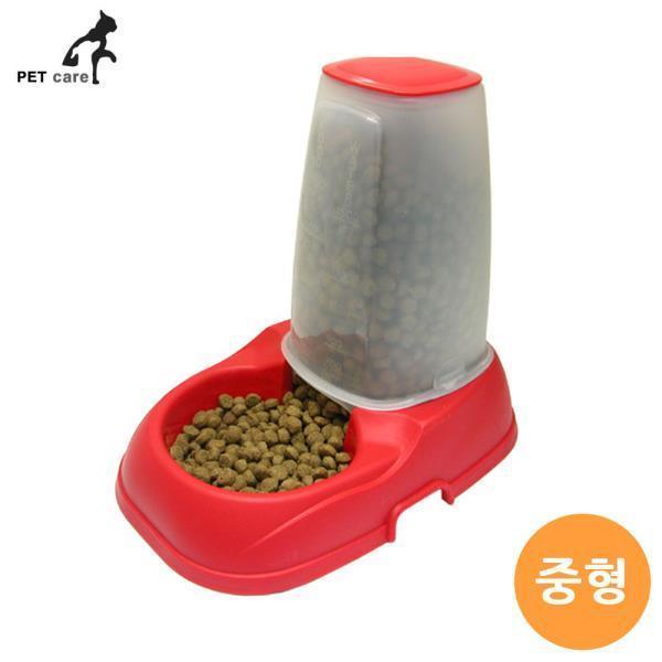 엠펫 자율급식기 (레드) (중형) (052)