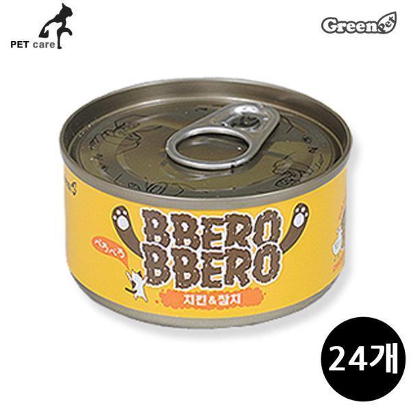 그린펫 빼로빼로 치킨 참치 80g (24개입)