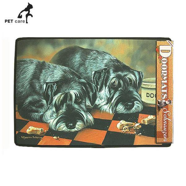 브라운트라우트 강아지 도어매트 (슈나우저)