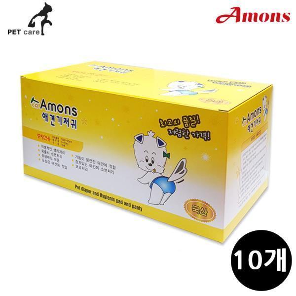 아몬스 애견기저귀 중형견용 10매 (10개입)