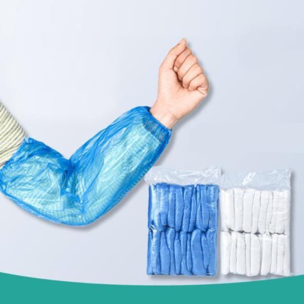 PURE 일회용 비닐 팔토시 작업용 위생 50켤레입