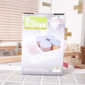 올패스미니잡곡쌀통3kg 화이트