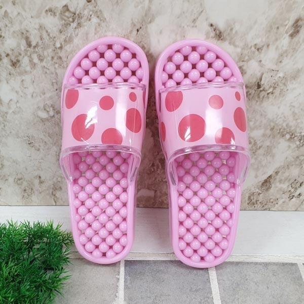 물방울 욕실화 핑크