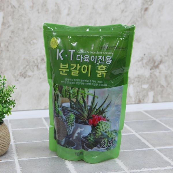 케이티 명품 다육 이전용 흙(2.5L)