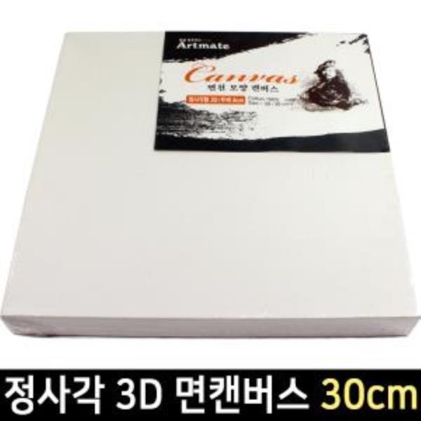 아트메이트 모양캔버스 정사각형 3D 30cm