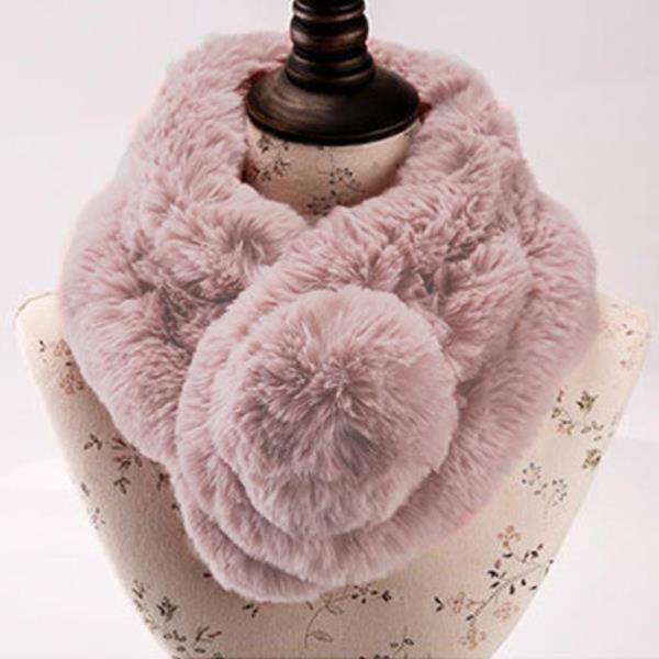 방울 털목도리 여성 겨울목도리 방한 머플러 퍼목도리