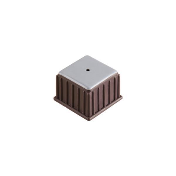 의자캡 사각 갈색 테프론 30X25X21