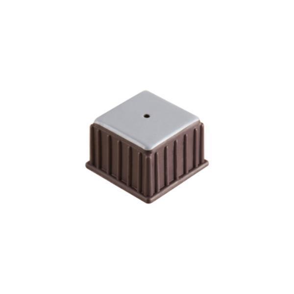 의자캡 사각 갈색 테프론 32X25X24