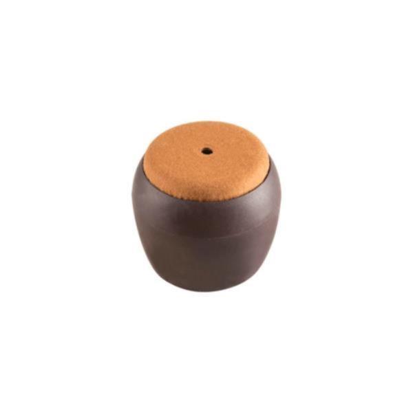 의자캡 원형 갈색 펠트 35X33X21