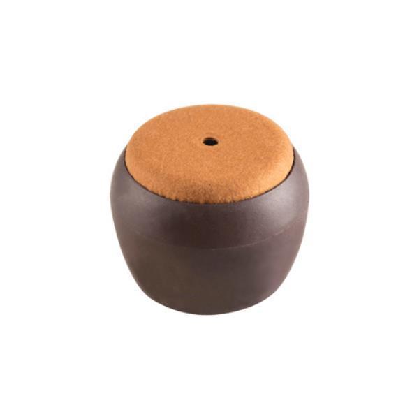 의자캡 원형 갈색 펠트 46X39X30
