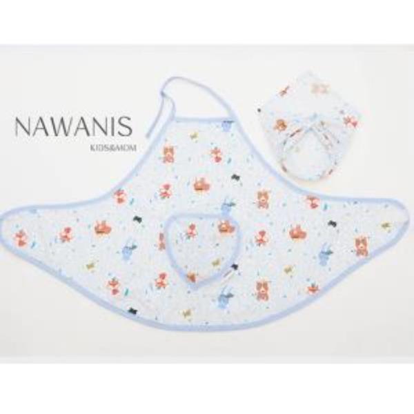 나와니스 유아 앞치마&두건 set(면혼방)