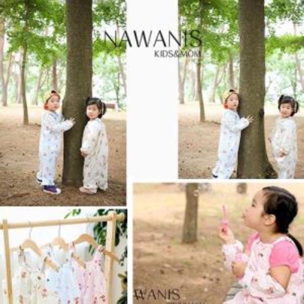 new 나와니스 유아 놀이복(면혼방)