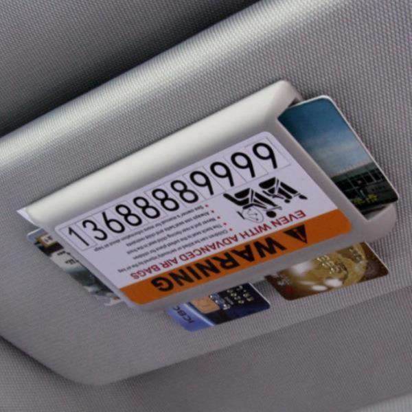 선바이저 카드포켓 차량용품 주차알림판 다용도 1P / 색상랜덤