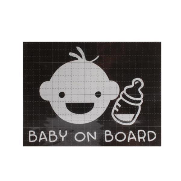 BABY ONBOARD 스티커 차량용스티커 화이트
