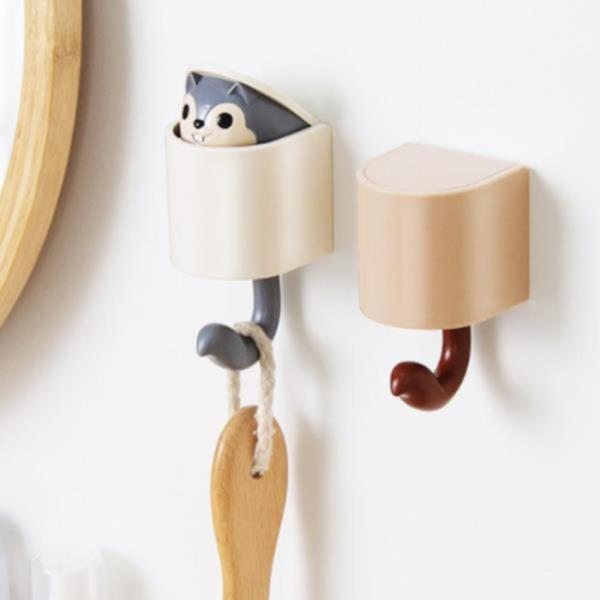 다람쥐후크걸이 디자인소품 거실  다용도 열쇠걸이