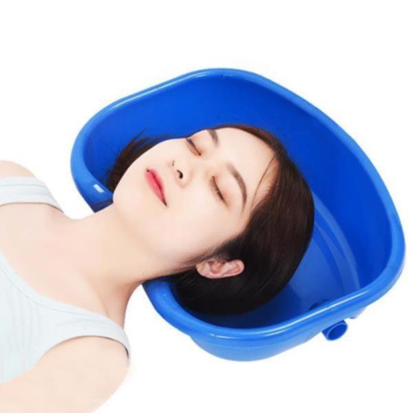 환자 노인 임산부 누워서 침상 머리감기 세발기