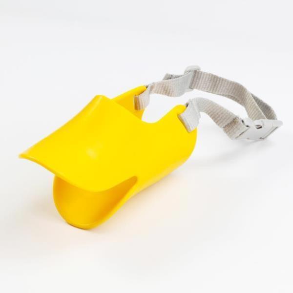 소형견 강아지 입마개 짖음방지기 실리콘 오리입마개
