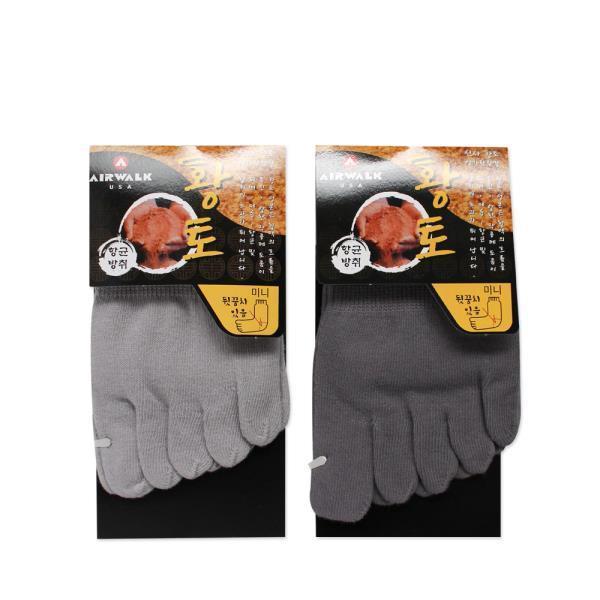에어워크 건강 황토 단목 발가락 기능성 양말 5족