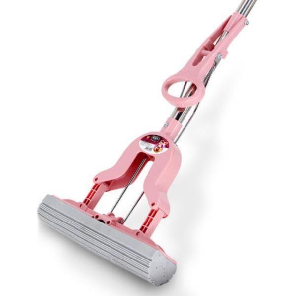 매직 밀대걸레 펄프청소기 핑크