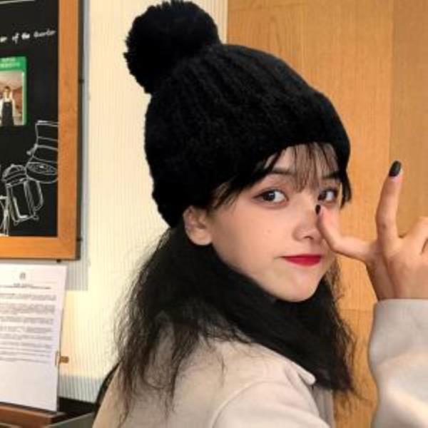 겨울 여성 안감 기모 방울 모자 슈톨 니트 비니 패션