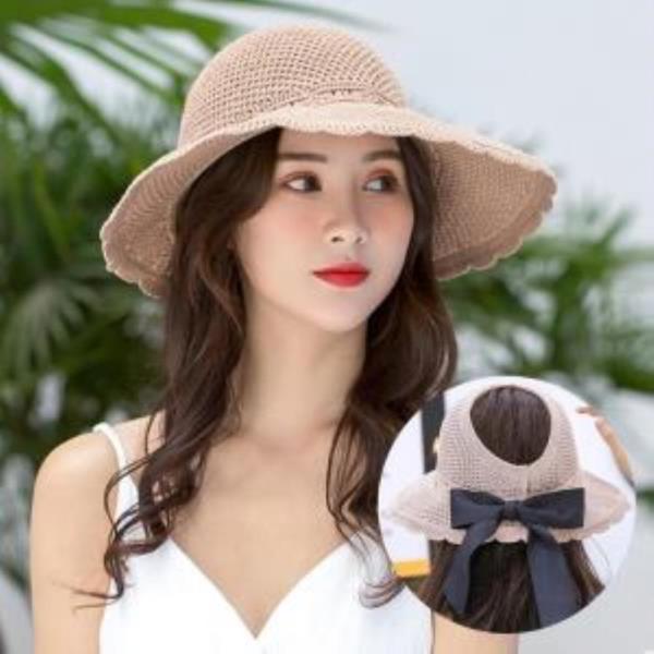 여성 여자 여름 모자 캡 비치 밀짚 버킷햇 창 벙거지 포리백 버킷햇