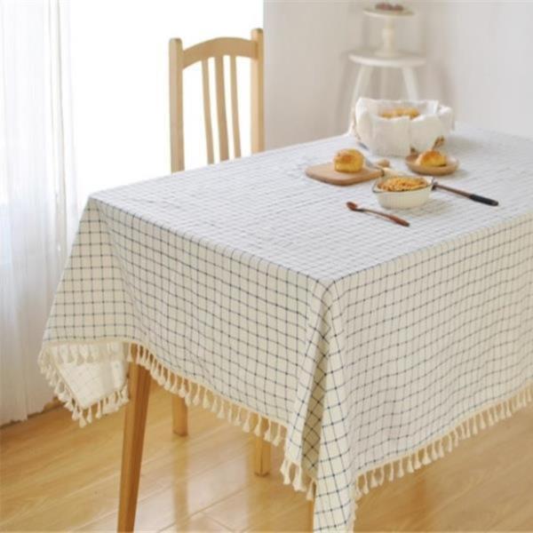 내추럴 체크 식탁보 테이블보