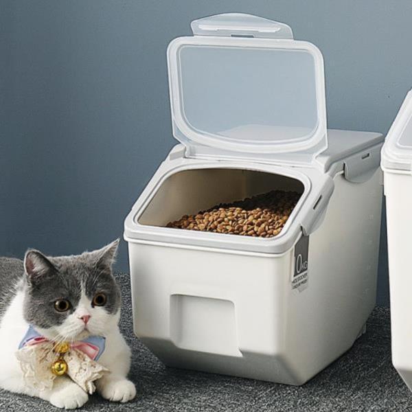 강아지 사료보관함 고양이 애견 사료통