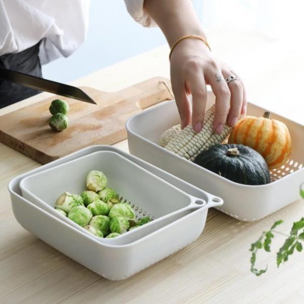 물빠짐 사각 과일 야채 채반 바구니
