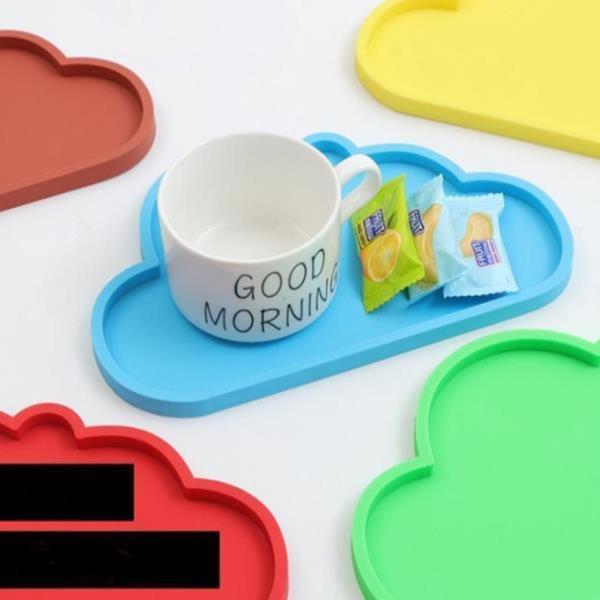 구름 실리콘 식탁매트 컵받침 쟁반