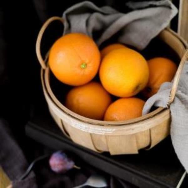 손잡이 대나무 과일 피크닉 바구니