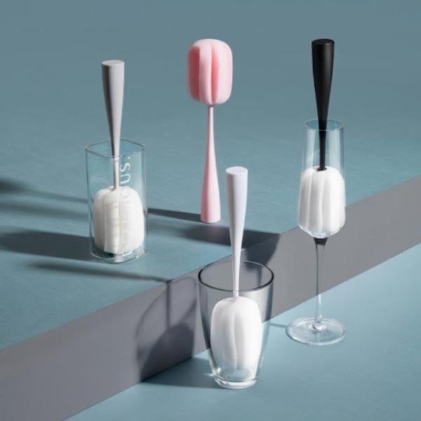 파스텔 머그컵 유리컵 스펀지 청소 브러쉬