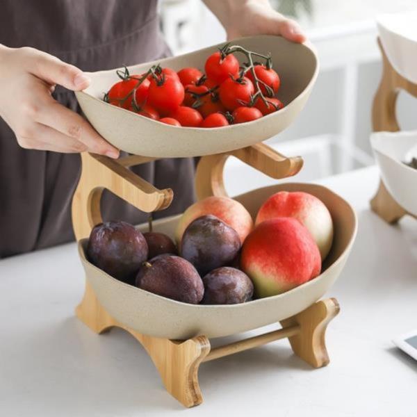 온나 2단 디저트 트레이 과일 접시
