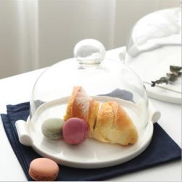 온나 원형 유리 케익돔 디저트 트레이