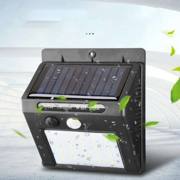 솔라 태양광 솔라 똑똑한 센서등 LED 벽등